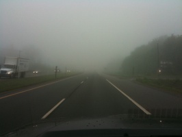06/16/10 - Foggy Drive Into Work
