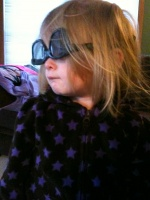 01/08/10 - Kaitlyn wearing 3D glasses