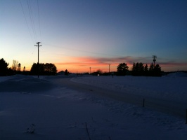 01/16/10 - Sunset at the MQT NWS Office