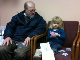 01/19/10 - Kaitlyn and Grandpa at the Dentist