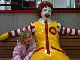 02/01/10 - Kaitlyn with Ronald McDonald