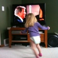 02/13/10 - Kaitlyn Dancing in front of the tv