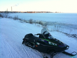 A Frozen Lake Superior while Snowmobiling on Feb 2