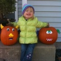Kaitlyn with Mom and Dad...pumpkin