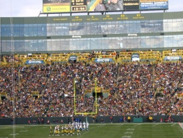 Packers on the other end of the field