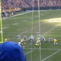 Panthers at the Packers 5 yard line