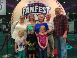 Family at the World's Largest Baseball