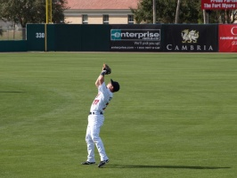 Steven Tolleson makes the catch in RF