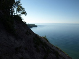 Looking West to Au Sable Point and Lighthouse