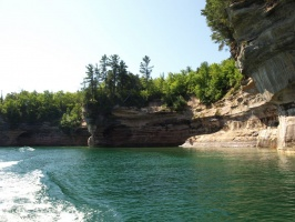 Part of Battleship Row at Pictured Rocks National Lakeshore