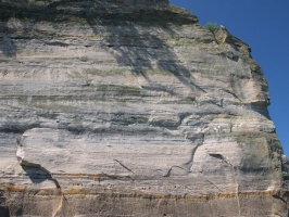 Closeup of Rock Cliff at Pictured Rocks National Lakeshore