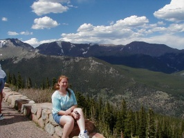 Kari in Rocky Mountain National Park.