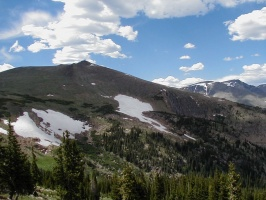 Snow and Mountains in Rocky Mountain National Park.