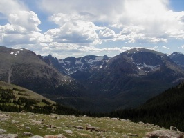 Valley and Mountains in Rocky Mountain National Park.