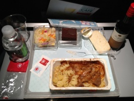 Meal on the plane to Munich