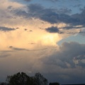 Thunderstorm Anvil being lit up