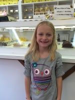 Kaitlyn at the fudge shop