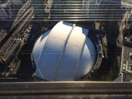 Looking down at the Rogers Centre