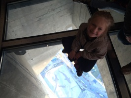 Kaitlyn on the glass floor